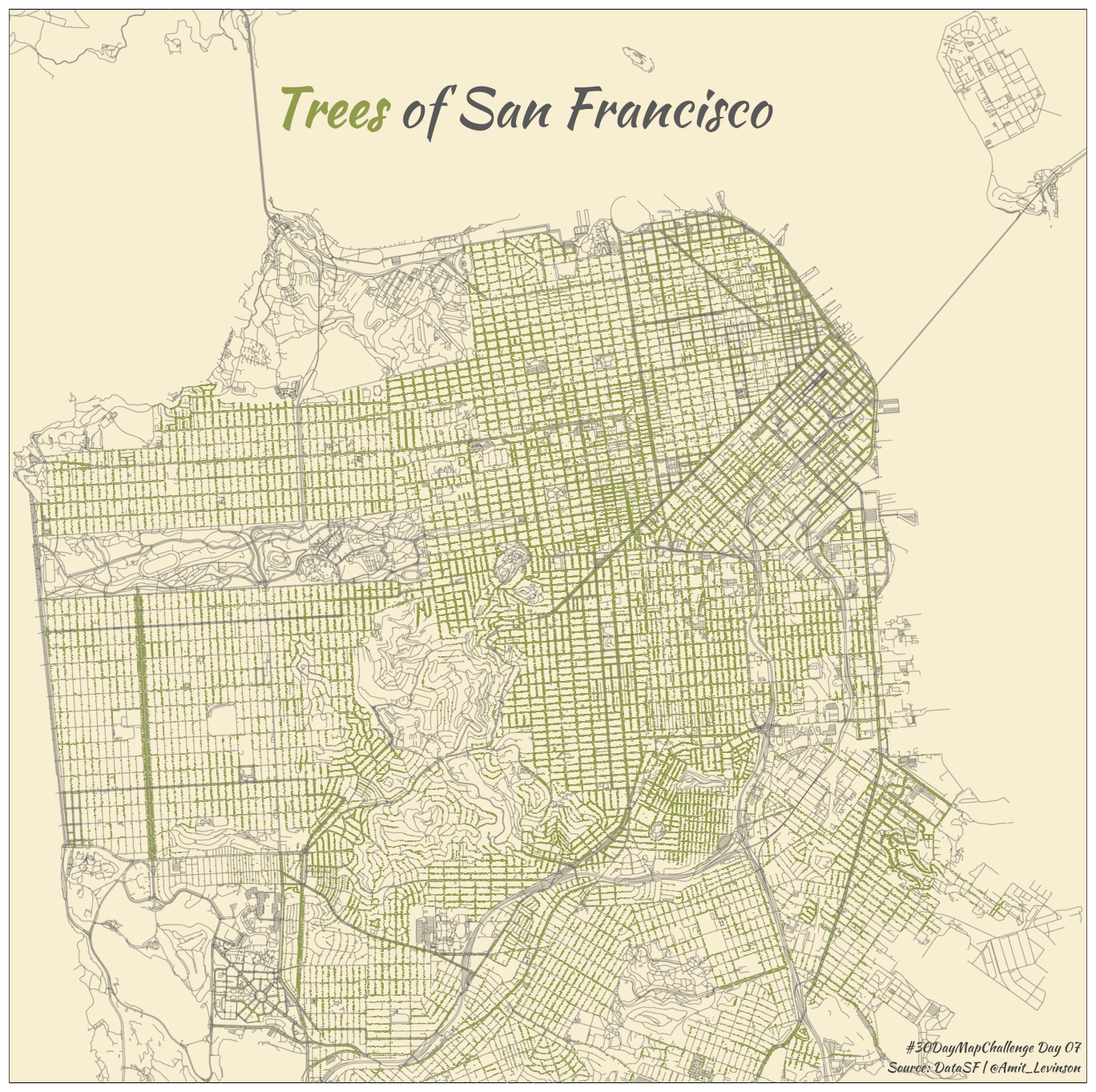 Mapping trees in San Francisco